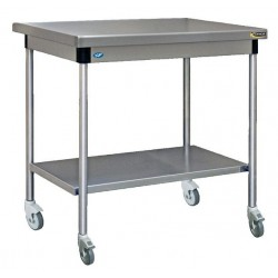 Table inox centrale avec...