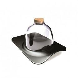 Assiette en porcelaine noir