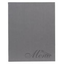 Protège menu A4 gris