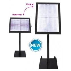 Porte menu 4xA4 Black star