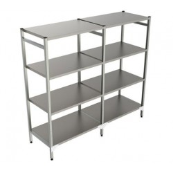 Rayonnage linéaire tout inox