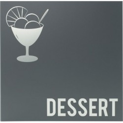 Carte des dessert moderne gris