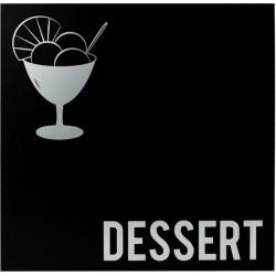 Carte des dessert moderne noir