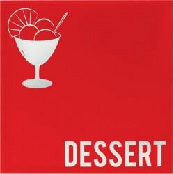 Carte des dessert moderne...