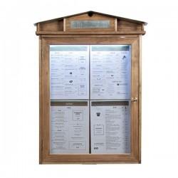 Porte menu Rustic led 4xA4