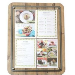 Porte menu GLASS STAR 4xA4...
