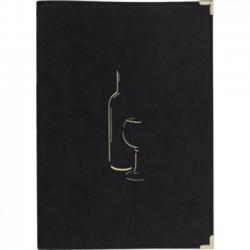 Carte des vins couleur noir...