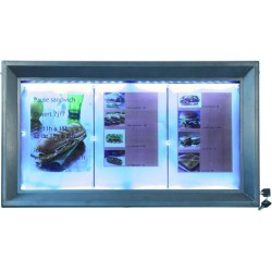 Porte menu COATED STEEL led...